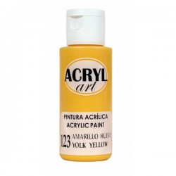 Pintura Acryl-Art 60ml - Amarillo Huevo
