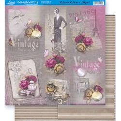 Papel Doble Cara - Vintage Paris 30.5 x 30.5 cm